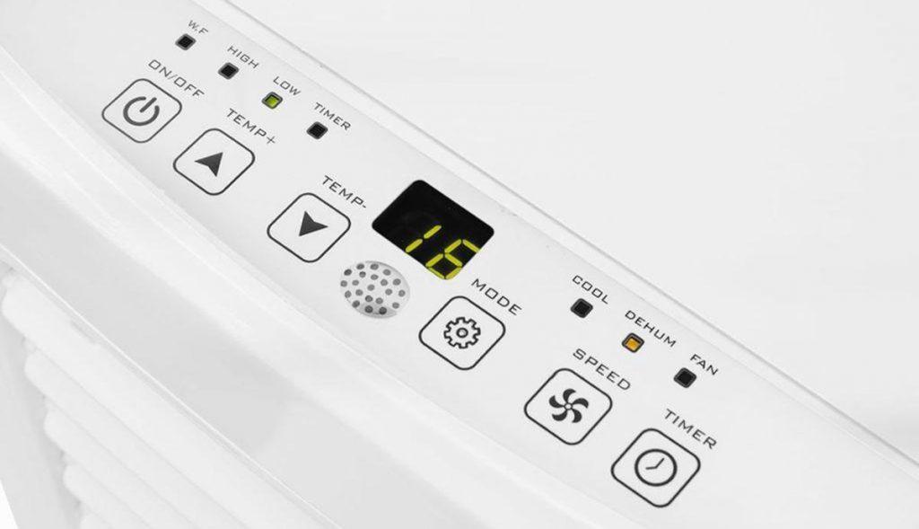 Tristar AC-5477 mobiele airco - Bedieningspaneel
